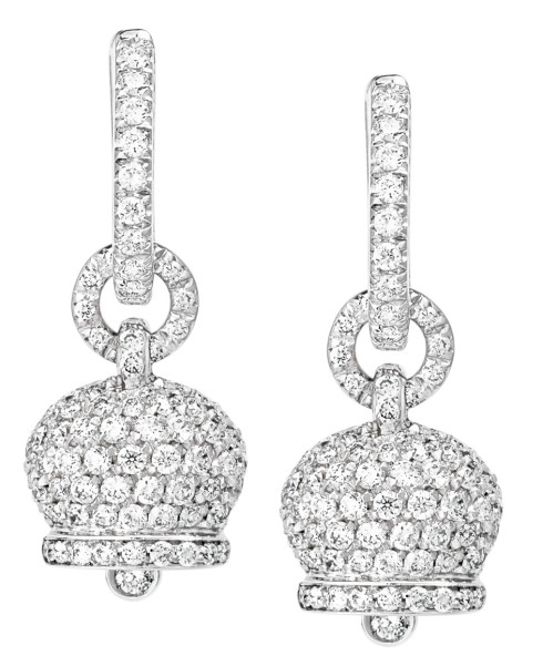 Gold earrings with diamonds – Chantecler