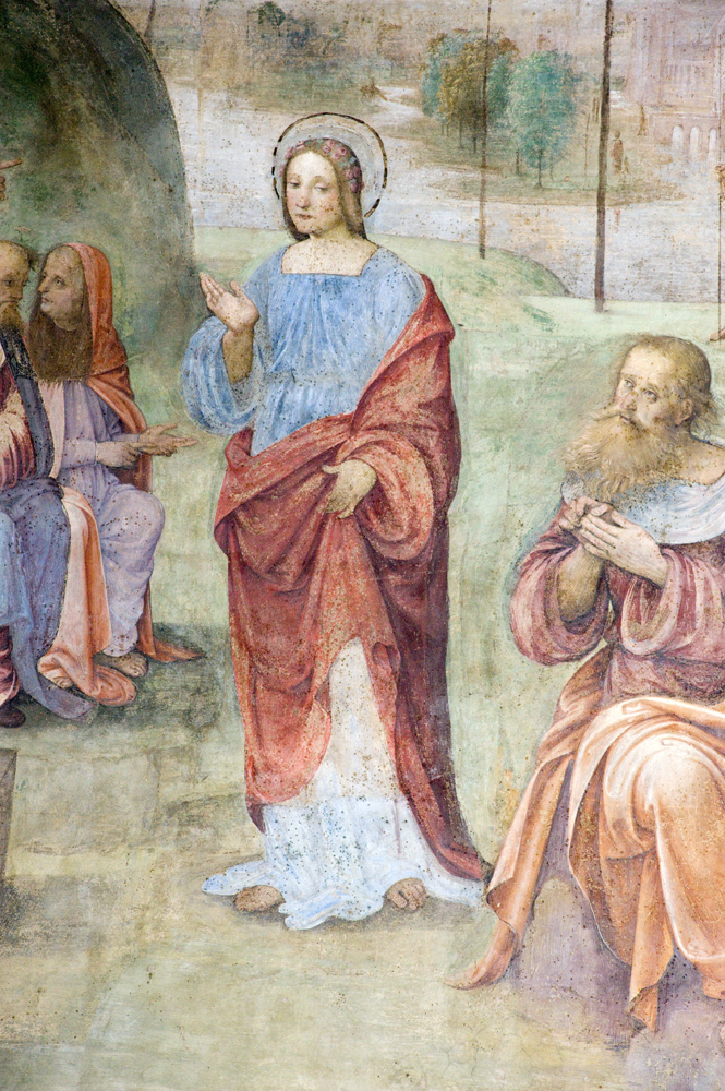 Interrogatorio Santa Cecilia - Affresco